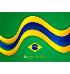 Brazil colors abstract smooth wavy vector image vector image