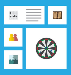 flat icon games set of arrow people gomoku and vector image vector image
