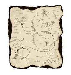 old treasure map vector image