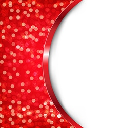 Red Card With Bokeh vector image vector image