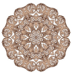 round vintage pattern vector image vector image