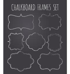 Vintage chalkboard style frames collection vector