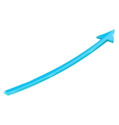 blue arrow up web icon vector image