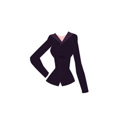 cartoon blazer with lapel collar and buttons vector image