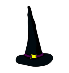 for halloween the head of a witch vector image