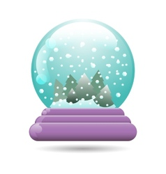 Snow globe with a christmas tree vector