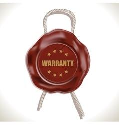 Warranty Wax Seal vector image
