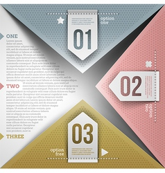 Abstract infographic design vector image vector image
