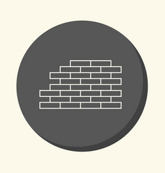 brickwork round linear icon with the vector image vector image