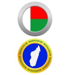 button as a symbol MADAGASCAR vector image vector image