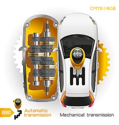 Car Transmission vector image vector image