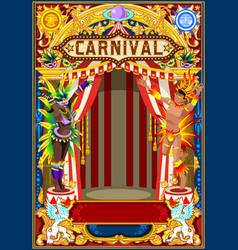 Carnival poster for mardi gras vector
