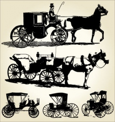 carriage silhouettes vector image