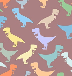 Color cute dinosaurs seamless background Repeating vector image vector image