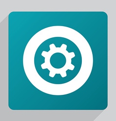 flat settings icon vector image