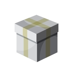 Gift box with ribbon icon cartoon style vector image
