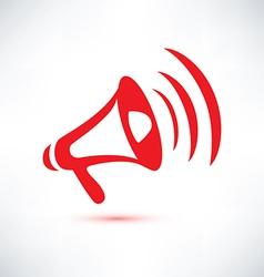 megaphone loudspeaker isolated symbol vector image