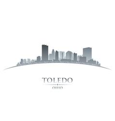 Toledo Ohio city skyline silhouette vector image vector image