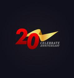 20 years anniversary celebration elegant gold vector