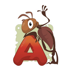 a etter ant vector image