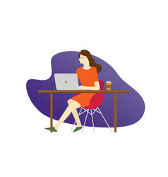 a women in tech business person sitting on the vector image