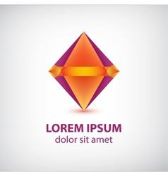 abstract colorful diamond logo vector image