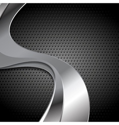 Abstract perforated metal texture with silver vector