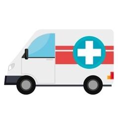Ambulance emergency vehicle with cross symbol vector image