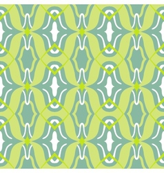 Arabic pattern in lime and jade green vector
