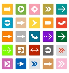 Arrow sign icon set square shape internet button vector