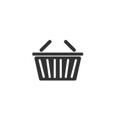basket icon flat vector image