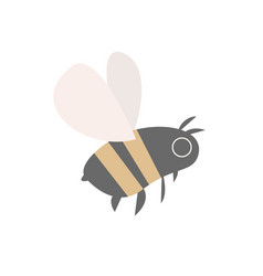 bee on white background vector image