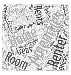 Benefits Of Renting Word Cloud Concept vector