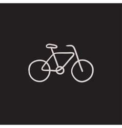 bicycle sketch icon vector image