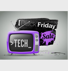 black friday electronics store sale vector image