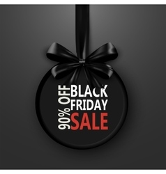 Black Friday sale inscription design template vector image