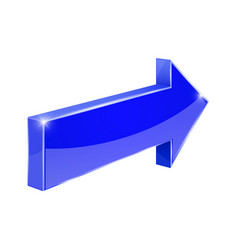 Blue arrow shiny 3d icon vector
