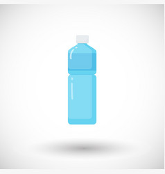 bottle of water flat icon vector image
