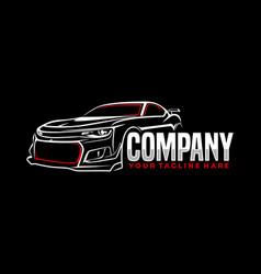 car sport line art logo template vector image