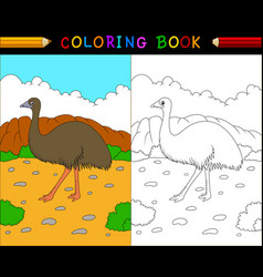 cartoon coloring book australian animals series vector image