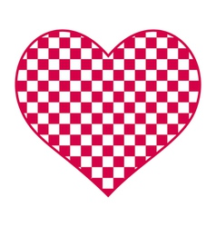 Checked heart vector image