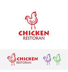 chicken logo design vector image