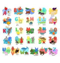 Children s alphabet with animals vector