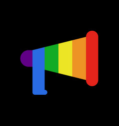 Coming out lgbt sign message lesbians and gays vector