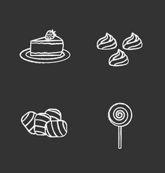 condectionery chalk icons set vector image