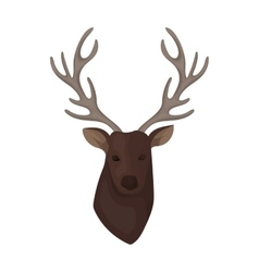 Deer head icon in cartoon style isolated on white vector image