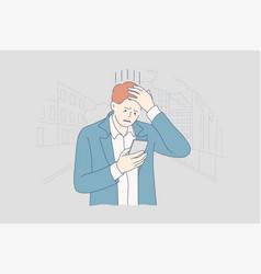 depression fatigue mental stress business vector image