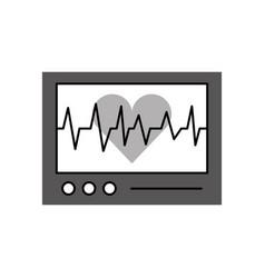 Ecg machine displaying heartbeat monitoring vector