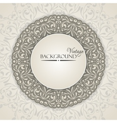 Elegant vintage background with lace ornament vector image