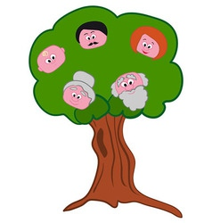 Family Tree Symbol vector image